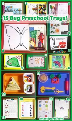 We enjoyed multiple weeks of bug tot school, but now it is time for 15 Bug Preschool Trays! Includes links to great free activities.