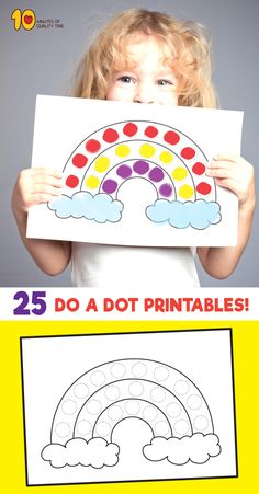 25 Dot Activity Printables : 25 Do a Dot Activity Sheets Color Activities For Toddlers, Preschool Learning Activities, Infant Activities, Preschool Activities, Kids Learning, Activity Sheets For Kids, Toddler Art, Toddler Preschool, Toddler Crafts