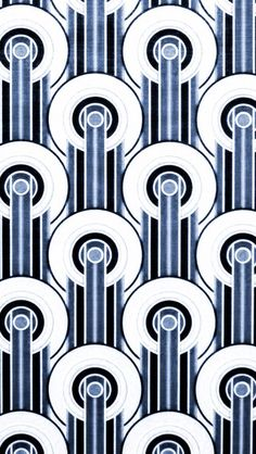 Art Deco Design blue black