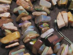Pretty strand of Australian Opal Beads - ready to be set - multicolours