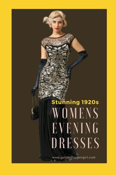 Look stunning and glamorous at your next formal event! Why not dress 1920s style and impress everyone with your outfit! 1920s Evening Dress, Women's Evening Dresses, 1920s Dress, Gatsby Dress Plus Size, Plus Size Dresses, 20s Dresses, Formal Dresses, Great Gatsby Outfits, 1920s Style