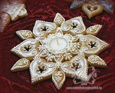 Mézeskalács Crazy Cookies, Fancy Cookies, No Bake Cookies, Holiday Cookies, Holiday Treats, Gingerbread Cake, Christmas Gingerbread, Ginger Cookies, Iced Cookies