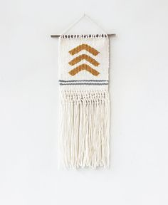 Yellow Arrows Weave Wall Hanging on Etsy, $50.00
