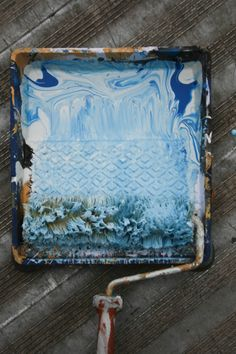 painting with blues, love all shades of blue :-)
