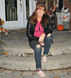 Target Flannel, Target Boyfriend Jeans, Zellers leather jacket, shoe dazzle oxfords