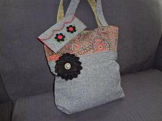 Felted Wool Tote Bag and Clutch by Alfred Woolens