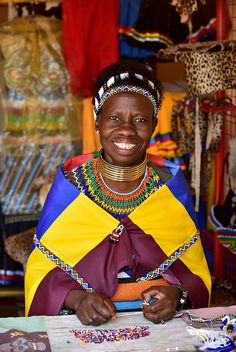 Woman of Ndebele village, Mpumalanga, South Africa
