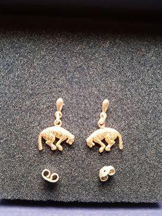 Leopard in 925 Silver Earring. Silver Jewellery, Jewelry, Stud Earrings, Boutique, Etsy, Unique Jewelry, Boucle D'oreille, Locs, Jewlery