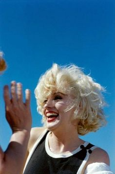 """Marilyn on the set of """"Some Like It Hot"""", 1958."""
