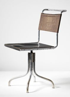 swivel chair, model no. B7, 1927 // designed by MARCEL BREUER, Bauhaus