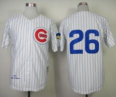 e5cb0ea95 Mitchell and Ness 1969 Cubs  26 Billy Williams White Throwback Stitched MLB  Jersey Dodgers Baseball