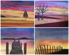 Sunset Skies Landscape Quilt Pattern with optional by QuiltRoutes