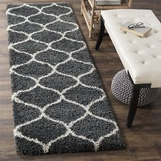 Amazing Safavieh Hudson Shag Collection SGH280A Ivory and Grey Area Rug