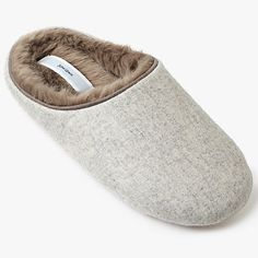 Buy John Lewis Marled Mule Slippers, Natural from our Women's Slippers range at John Lewis & Partners. Womens Slippers, John Lewis, Faux Fur, Hygge, Natural, Stuff To Buy, Christmas, Shopping, Xmas