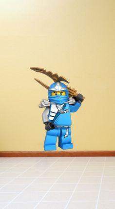 Lego Ninjago Ninja Jay Mini Figure Vinyl Wall Decal Sticker Mural Peel and Stick. $27.99, via Etsy.