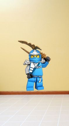 Lego Ninjago Ninja Jay Mini Figure Vinyl Wall Decal Sticker Mural Peel and Stick. $27.99, via Etsy.