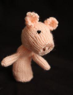 Pig Knit Finger Puppet