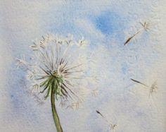 Dancing Dandelions Original Watercolor Painting