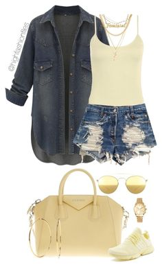A fashion look from April 2017 featuring dark blue denim shirt, Boohoo and shorts. Browse and shop related looks. Bad And Boujee Outfits, Sporty Outfits, Swag Outfits, Cute Casual Outfits, Casual Chic, Stylish Outfits, Fashion 2017, Fashion Outfits, Womens Fashion