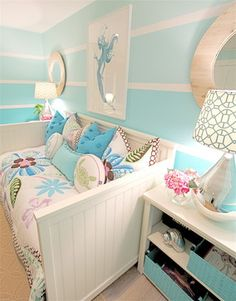 Mermaid Bedroom - beach-style - Kids - Orange County - Nagwa Seif Interior Design