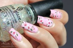 Find the full post here : http://www.nailzcraze.com/2013/09/delicate-pink-flowers.html Use this nail art product : http://www.bornprettystore.com/nail-water-decals-sticker-transfer-sticker-elegant-small-flowers-g065y139cy062-p-6445.html Use the code PNL91 to get -10% discount.