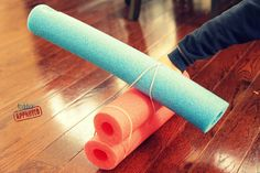 @Megan Clapper  I know you have these! And now you have no excuse not to make a catapult with your son! :) Pool Noodle Catapult. A fun way to explore force and motion
