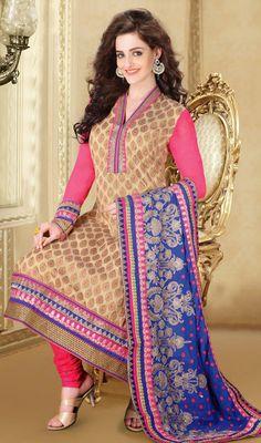 Banarasi Silk Jardozi Embroidered Party Dress Price: Usa Dollar $229, British UK Pound £134, Euro168, Canada CA$245 , Indian Rs12366.