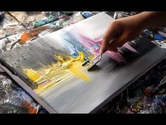"""Acrylic abstract painting / Demonstration / by Roxer Vidal"""" Abstract Canvas Art, Acrylic Art, Acrylic Painting Canvas, Painting Abstract, Painting Art, Acrylic Painting Techniques, Painting Videos, Art Paintings, Inspire"""