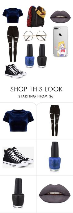 """""""Untitled #32"""" by matilde94 on Polyvore featuring Topshop, Converse, OPI and Huda Beauty"""