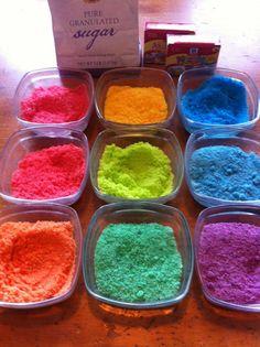 Homemade sugar sprinkles.