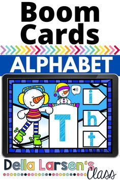 Boom Cards make a fun kindergarten alphabet activity for winter literacy centers. A wonderful addition to your unit on snowmen. This deck has sound files so your preschool students will hear the letters of the alphabet and they match the uppercase letter to the lowercase letter.