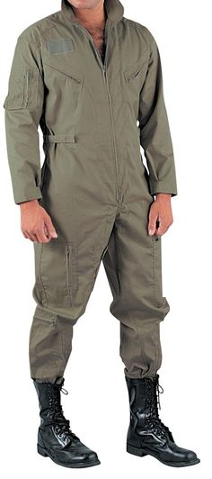 - Air Force Style - Made of Poly/Cotton - 2-Way Front Zipper - Leg Zippers - Long Sleeve - 5 Zippered Pockets - Hook and Loop Name Tab Fastener - Adjustable Waist and Cuffs SIZES SM MD LG XL 2X 3X 4X