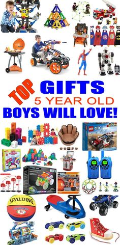 Top Gifts For 5 Year Old Boys! Best gift suggestions & presents for boys fifth birthday or Christmas. Find the best toys for a boys bday or Christmas. Shop the best boys gift ideas now! for boys Top Gifts 5 Year Old Boys Want 4 Year Old Boy Birthday, 6 Year Old Boy, Birthday Gifts For Boys, 5th Birthday, Christmas Presents For 5 Year Olds, Christmas Gifts For Boys, Christmas Shopping, Top Christmas Toys 2018, Best Christmas Gifts 2018