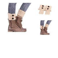0641612206024 | #Sannysis #Stricken #Stiefel #Socken #Beinlinge #Boot-Abdeckung #Keep #Warm #Socks #(beige)