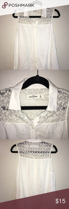 Abercrombie Kids Lot of 2 Button Up Blouse EUC, Sleeveless black and white sheer blouses Size S and M abercrombie kids Shirts & Tops Blouses