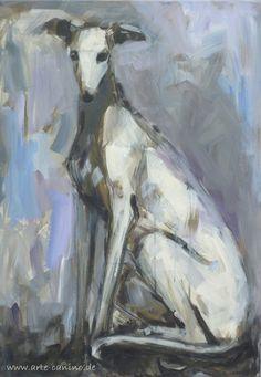 Spanish Greyhound (Galgo), acrylic on canvas, 100 x 70 cm