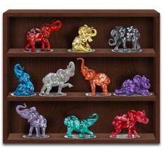 Rarest Gem Elephants Of The World Figurine Collection Elephant Love, Elephant Art, Elephant Stuff, Sugar Skull Artwork, Yoda Images, Elephant Comforter, All About Elephants, Elephant Home Decor, Elephant Figurines