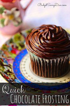 Quick Chocolate Frosting Recipe – Marie Recipe