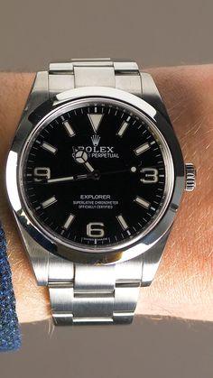 #rolex #explorer #blackwatch #menswatch #luxurywatch #rolexwatch #timepiece #rolexexplorer #luxury #watch #sportswatch Expensive Watches, Most Expensive, Rolex Watches, Watches For Men, Used Rolex, Swiss Luxury Watches, Rolex Explorer, Mans World, Rolex Datejust