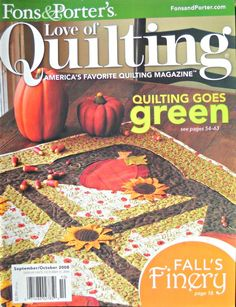 Fons and Porter's Love of Quilting Magazine, September/October 2008 Issue by CurlicueCreations on Etsy