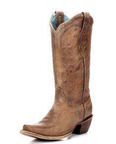 Women's Vintage Tan Cowhide Boot - C1928