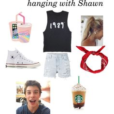hanging with Shawn by madyd on Polyvore featuring polyvore mode style Ksubi Converse Skinnydip