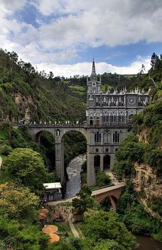 Medieval Cathedral In Pasto, Colombia. Las Lajas Photo: This Photo was uploaded by staffpicks. Find other Medieval Cathedral In Pasto, Colombia. Places Around The World, Oh The Places You'll Go, Places To Travel, Places To Visit, Around The Worlds, Beautiful Buildings, Beautiful Places, Amazing Places, Beautiful Castles