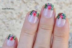 #Flower #frenchmanicure for #Fall