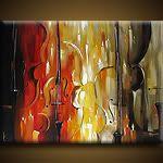 Abstract violin painting