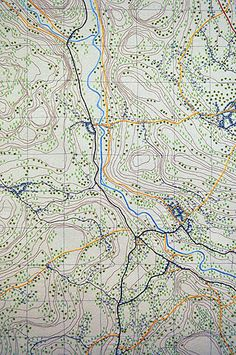 'Where?' embroidered map by Anne Biss.