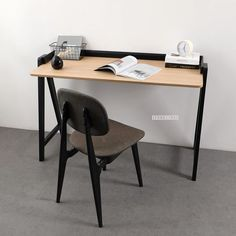 A stylish office desk, particleboard with oak look finish and strong black solid oak legs and frame. Office Desk, Home Office, Black Desk, Furniture Movers, Solid Oak, Stylish Office, New Homes, Modern, Strong
