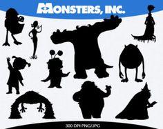 monsters inc silhouettes Disney Day, Disney Love, Disney Trips, Disney Silhouettes, Halloween Silhouettes, Disney Fantasy, Disney Font Free, Cartoon Silhouette, Disney Scrapbook