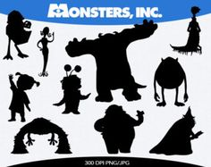 monsters inc silhouettes - Google Search