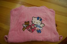 Hello Kitty Snow Angel embroidery design